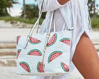 Summer Treat - Large Pleather Tote