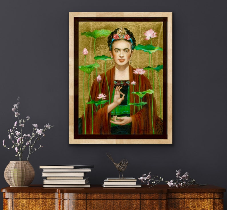 Frida-Our Lady Queen of the Lotus Frida as Guan Yin image 0