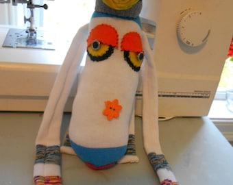 Sock doll monkey stuffed animal handmade