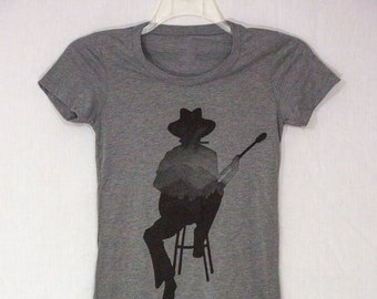 Guitar Player Graphic Tee for Women