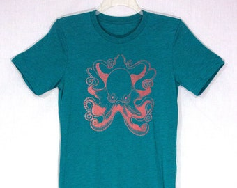 Men's Octopus Tee Shirt, Nautical Shirt for Men