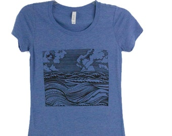 Women's Wave Tee Shirt