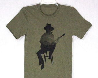 Guitar Player Graphic Tee for Men
