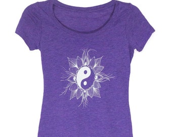 Mandala Yin and Yang Shirt for Women
