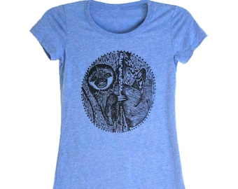 Smiling Sloth women's tee shirt