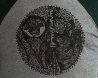 Sloth Baseball Tee, Unisex sloth shirt, Men's Longsleeve