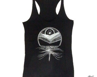 Mountains, Rivers, Moonbow Women's Nature Tank