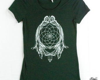 Women's Dreamcatcher Tee in Emerald Green