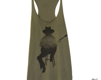 Guitar Player Graphic Tank for Women