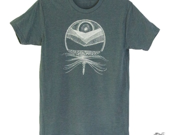 Moonbow and Mountains Men's Tee