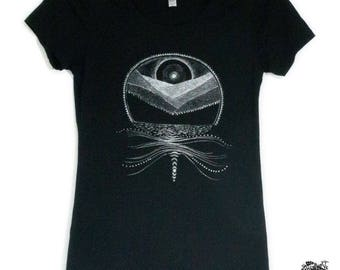 Women's Full Moon and Mountains Tee