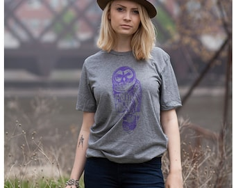 Owl Unisex Men's Women's Tee Shirt