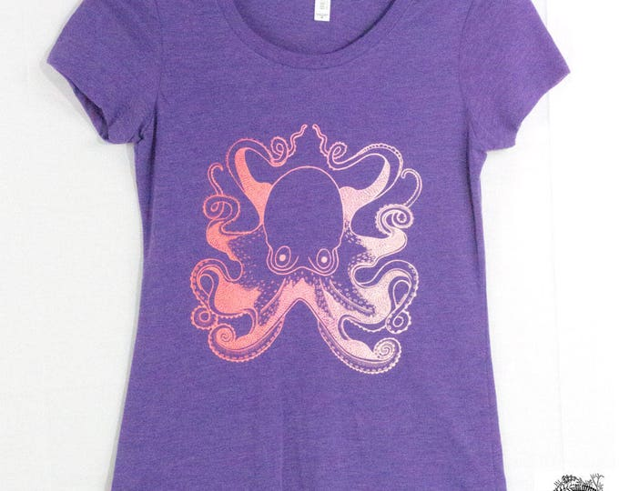 Featured listing image: Women's Octopus Screen Printed Tee Shirt