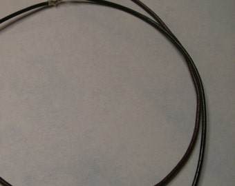 "18"" Black Leather Necklace with Sterling Findings"