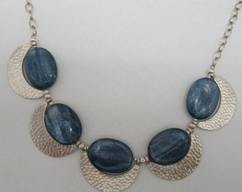 Kyanite and Sterling/Thai Silver Necklace