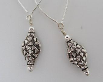 Sterling silver swing earrings