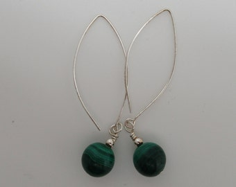 Malachite and Sterling earrings