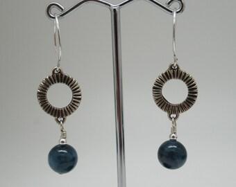 Kyanite and Sterling Silver Earrings