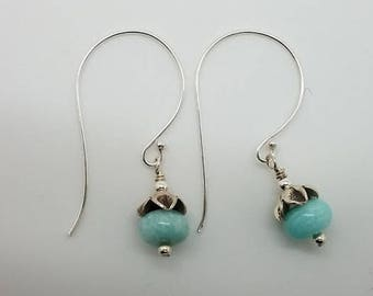 Sterling and amazonite earrings