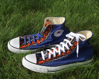 Unisex Size 11 Women s Size 9 Men s Africanized Dashiki Converse Chuck  Taylor All Star high top sneakers 577f752d9d