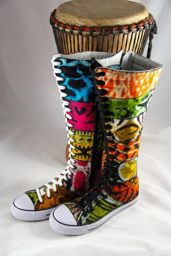Hallo 8 StiefelFunky Größe Afrikanische SchuheOoakSandoodles Sneaker AnfangBatikPatchworkX SneakersWo LSMVzjpqGU