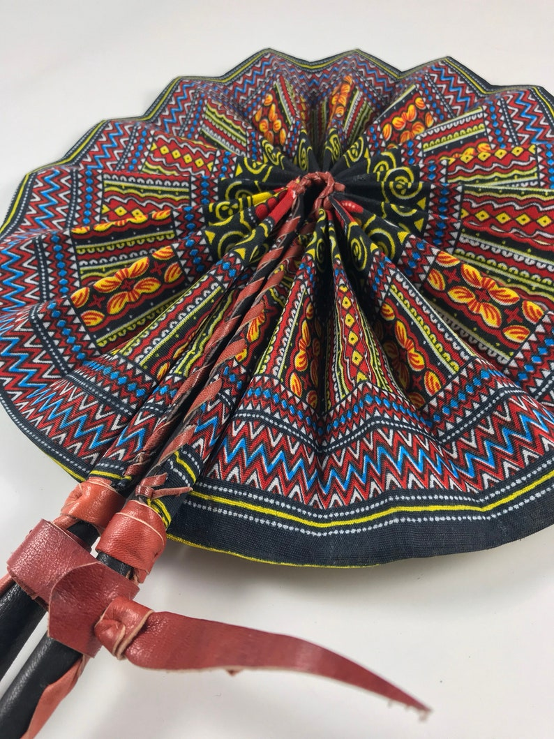 83bea967adfa African cloth fan Angelina Ankara Dashiki Black multi colored