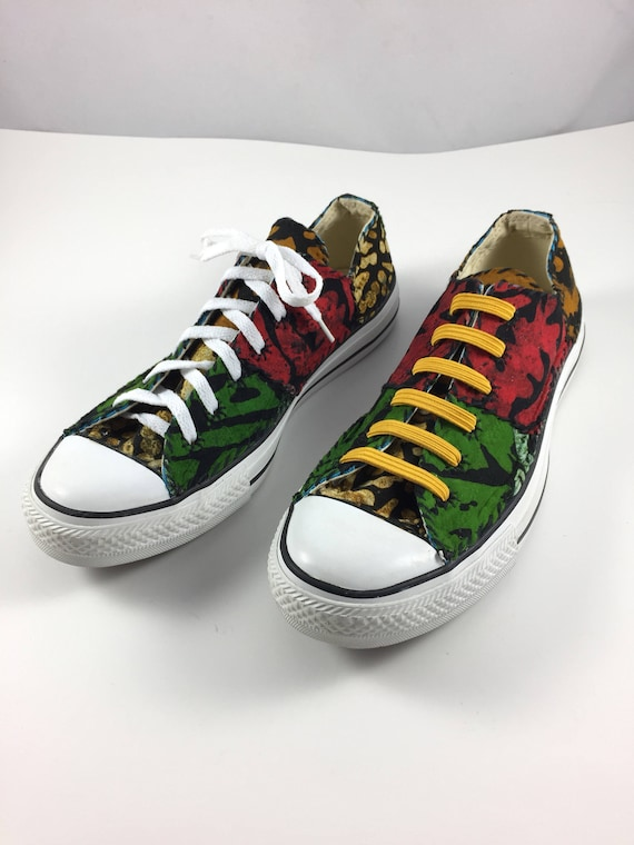 e094759c5cfc Size 10 Women 8 Men sneakers Africanized batik patchwork