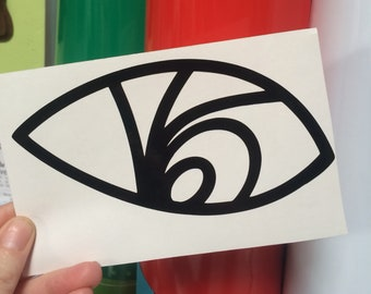 Series of Unfortunate Events VFD eye tattoo Lemony Snicket inspired vinyl sticker decal car window sticker