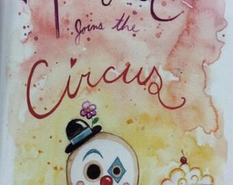 Peaburt joins the Circus-handmade book