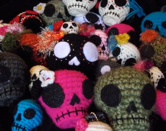 ONE Custom made Day of the Dead Skull hanging ornament