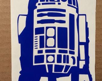 R2D2 Star Wars inspired vinyl sticker decal car window sticker