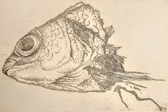 Fishhead Etching