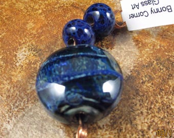 Boro Lentil Focal Bead with Spacers