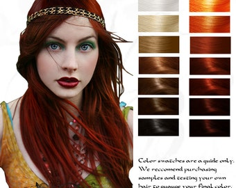 Bright Copper Fire Genasi Herbal Henna Hair Color And Etsy