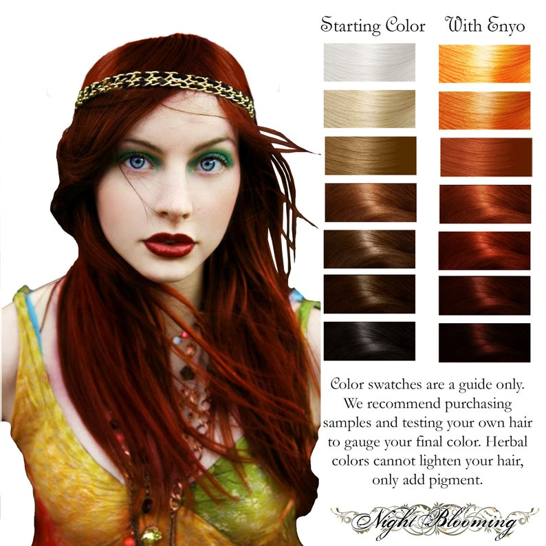 Enyo: War Goddess Ruby Red Herbal Henna Hair Dye & Color 100G image 0
