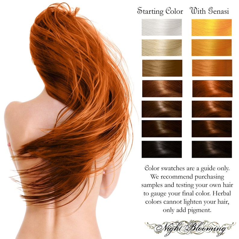 Bright Copper Fire Genasi Herbal Henna Hair Color and image 0