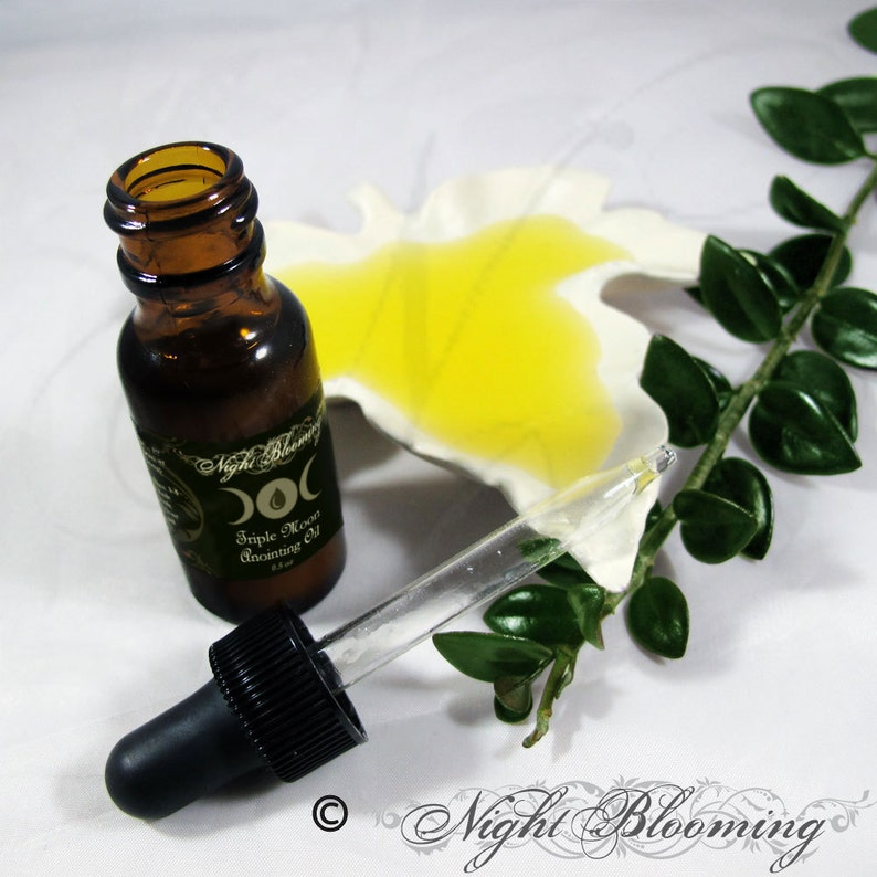 Triple Moon Hair Anointing Oil 1/2oz  Sample Size w/dropper image 0