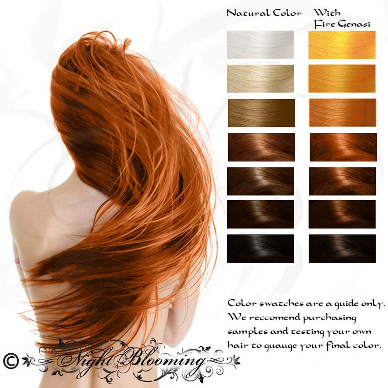 Bright Copper Fire Genasi Herbal Henna Hair Color and Conditioner 10G Sample
