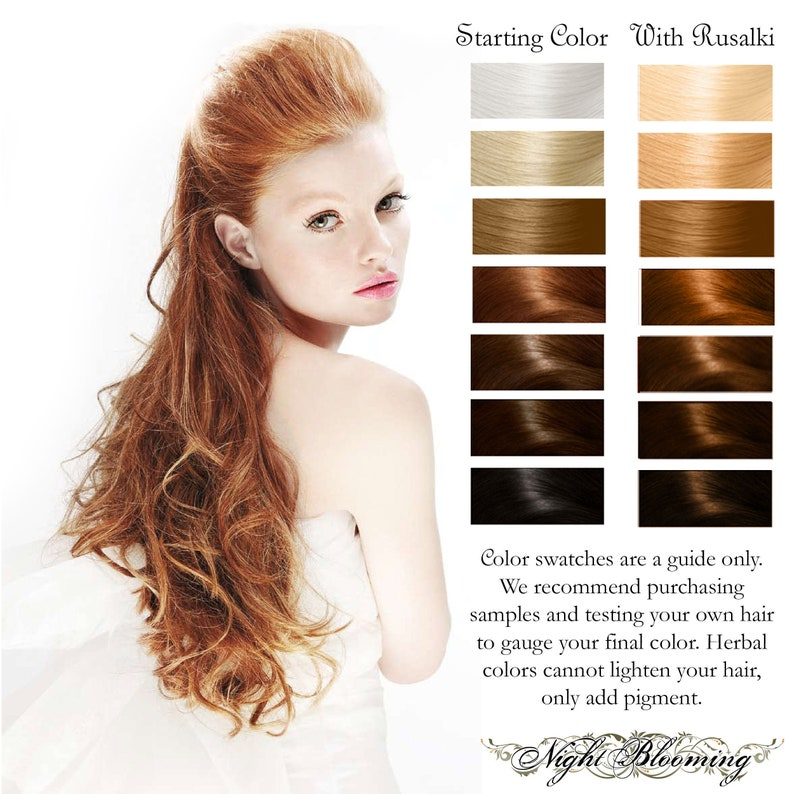 Strawberry Blonde Rusalki Herbal Henna Hair Color and image 0