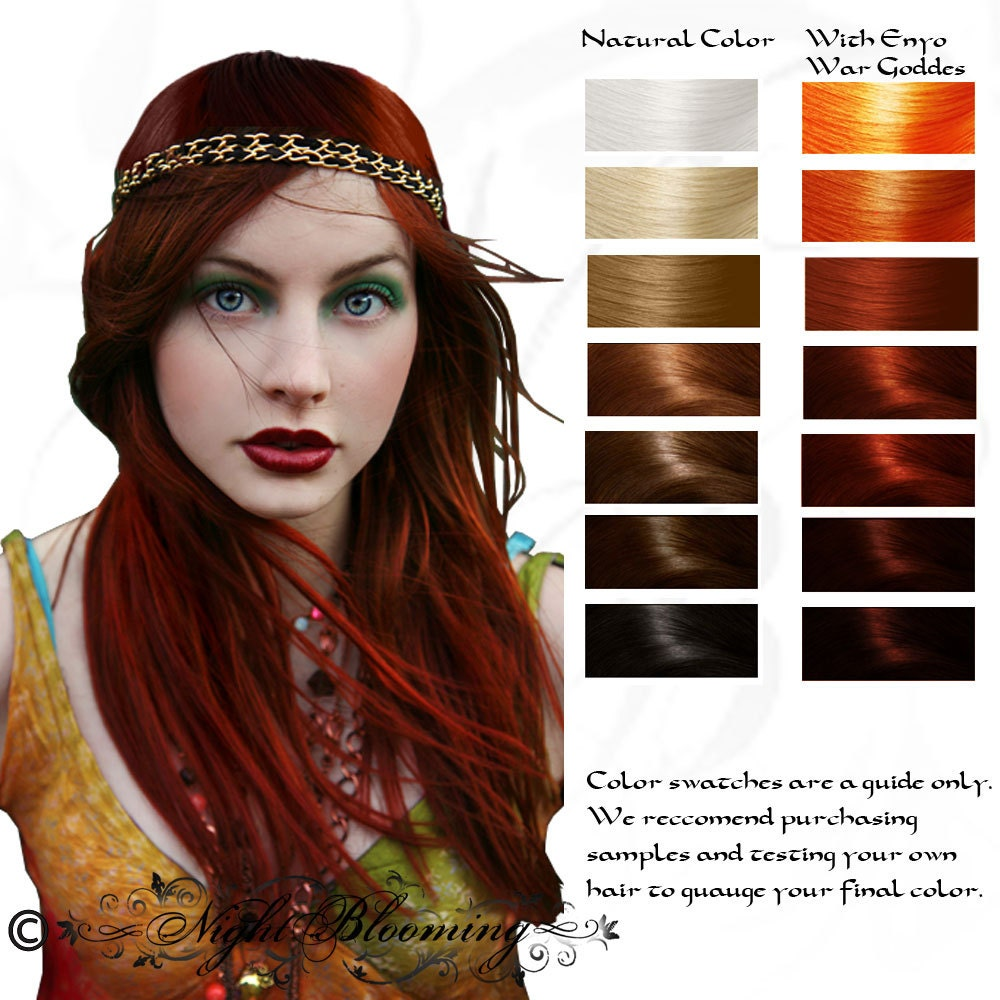 Enyo War Goddess Ruby Red Herbal Henna Hair Dye Color 100g Etsy