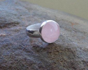 Big Rose Quartz Ring - size 6.75 - SALE