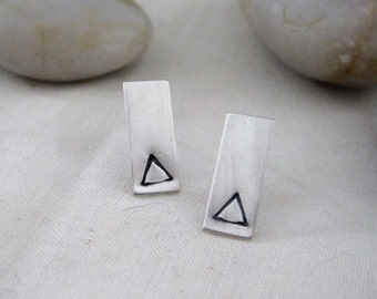 Triangle Rectangle Earrings