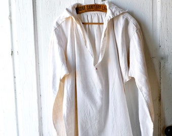 Early Hand Stitched Linen Shirt