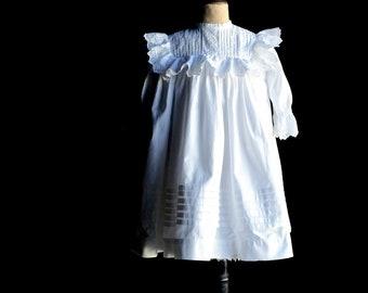 Edwardian Mother Hubbard Style Little Girl's Dress