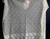 Antique Needlerun Lace Veil
