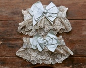 1920s Silk and Lace Garters Pair
