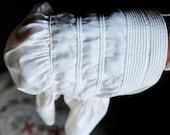 Antique Child's Hand Stitched Corded Bonnet