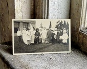 Real Photo Postcard Children in Halloween Costume Group Photograph