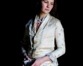 Victorian Silk Brocade Wedding Waistcoat