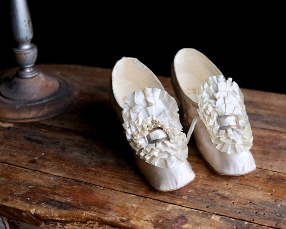 Antique 1870s Wedding Shoes